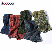 JOOBOX 2018 New Cargo Shorts Men Summer Top Design Camouflage Military Casual Shorts Homme Cotton Fashion