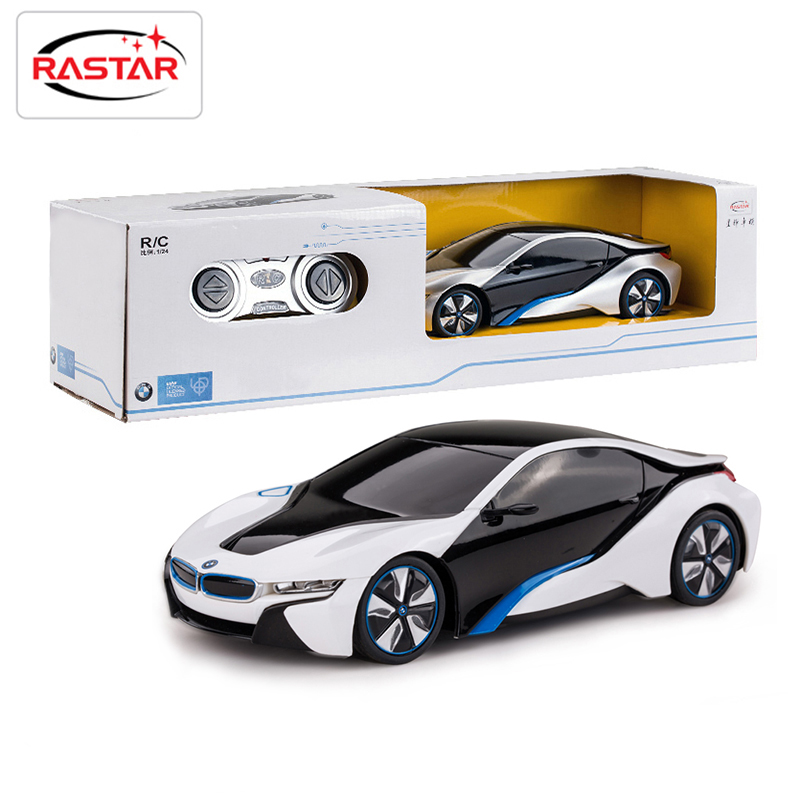 licensed 124 rastar rc mini cars electric remote control toys 4ch radio controlled cars classic toys for boys kid gift i8 48400