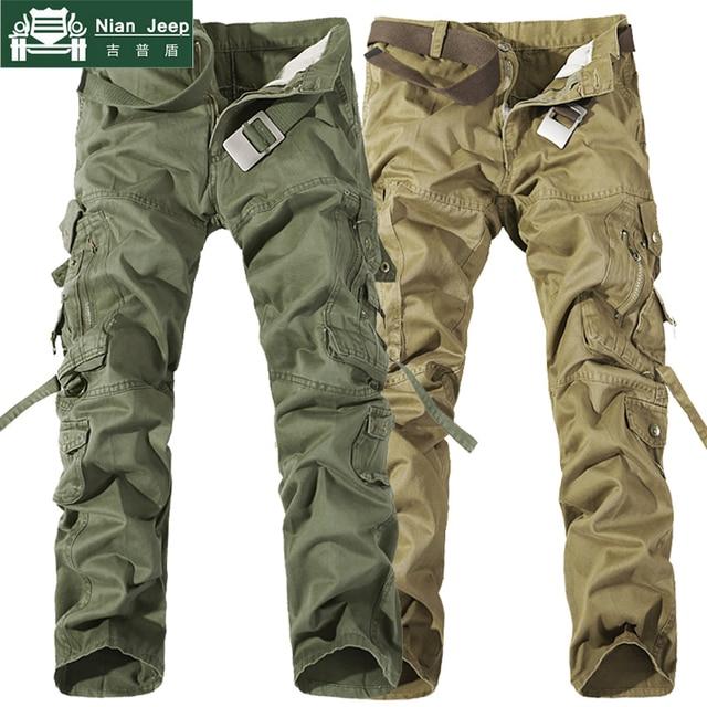 2018 Brand Mens Cargo Pants Army Military Cotton Pants pockets Baggy Mens Pants Sweatpants track pants pantalon homme Size 40 42 4