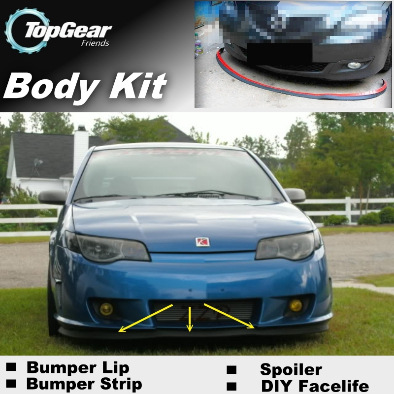 Bumper Lip Deflector Lips For Saturn Ion 2003~2007 Front Spoiler Skirt For  TopGear Fans to Car Tuning / Body Kit / Strip