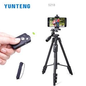 Image 3 - Yunteng 5218  Camera Tripod Self portrait Monopod Tripod  Bluetooth Remote Control Selfie Phone Clip