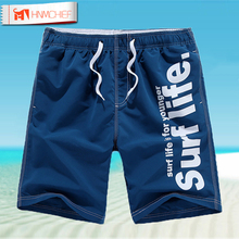 HNMCHIEF Casual Men Shorts Beach Board Short Men Quick Drying Summer Style Solid Polyester New Brand