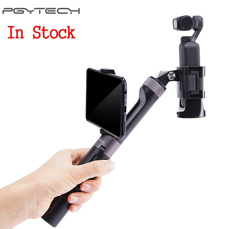 PGYTECH Osmo Pocket Hand Grip Tripod Extend Pole handle w phone holder for DJI Osmo Action gopro 6 7 Action Cam accessoriesPGYTECH Osmo Pocket Hand Grip Tripod Extend Pole handle w phone holder for DJI Osmo Action gopro 6 7 Action Cam accessories