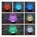 Frete Grátis 7 Alterar Cor Sorrindo Buda 3D Luz Da Noite LEVOU Decoração Da Lâmpada Lâmpada de Mesa Luz Noturna para Crianças Presente