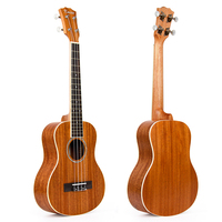 Kmise Mogno Ukulele Tenor Ukelele 26 polegada Cordas Aquila 4 Cordas Havaí Uke Guitarra
