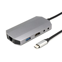 Newly 9 In 1 USB 3.1 Type C Hub 4K HDMI Video HD RJ45 Ethernet SD TF Card Reader Charging Dock
