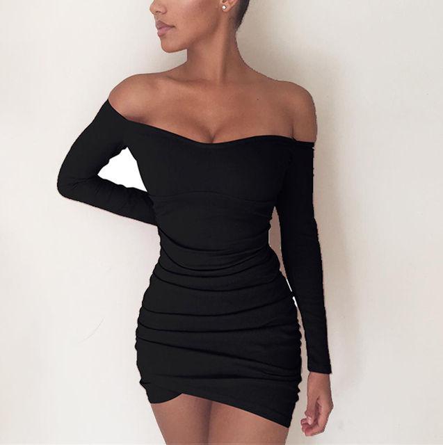 cc7b467163249 İNGILTERE Bayan Bandaj Bodycon Kapalı Omuz Parti Kokteyl Kısa Mini Elbise