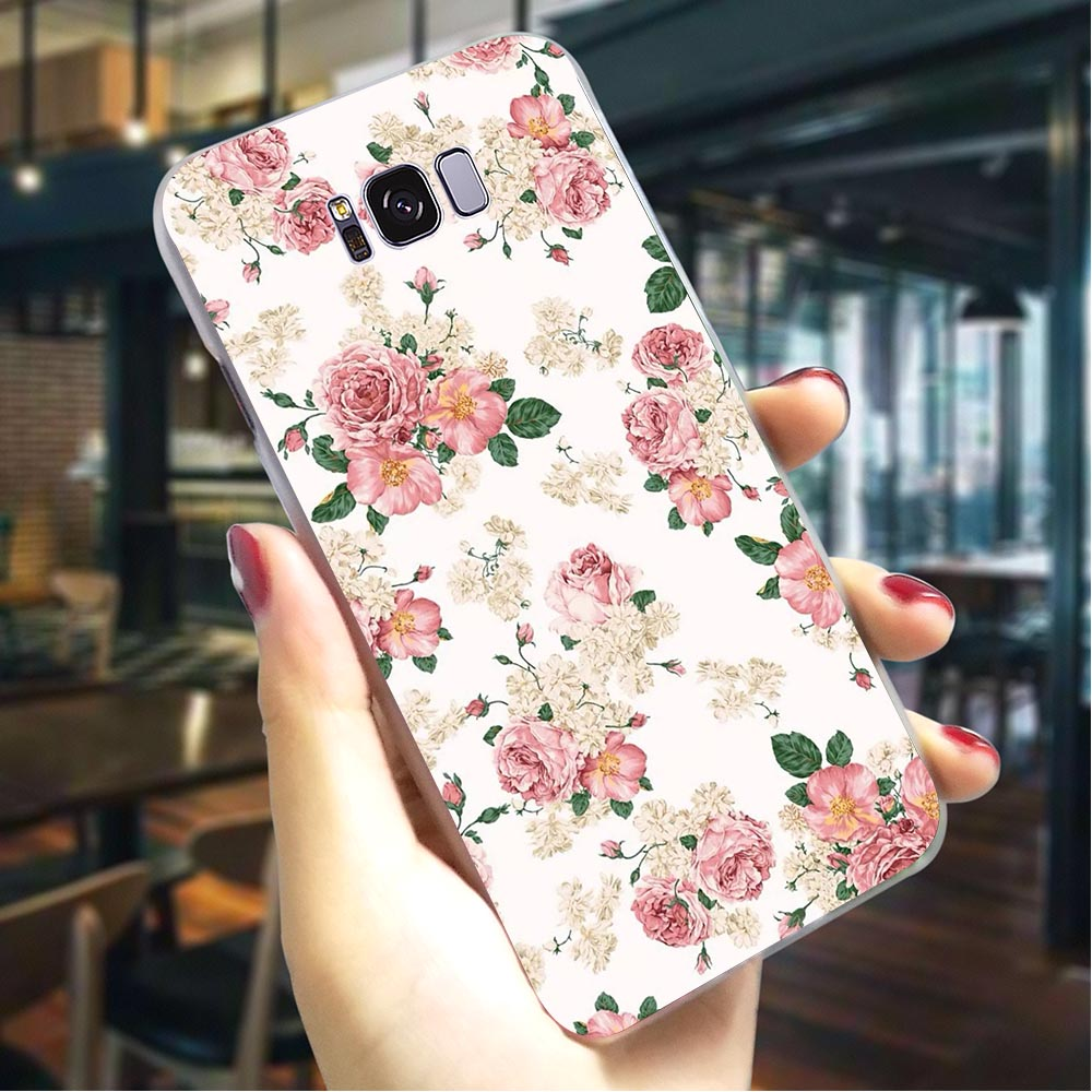 Peony flowers Hard Case for SamsungGalaxy A5 2016 Slim Phone Cover for Samsung Galaxy A10 A30 A40 A50 A70 Covers Back in Fitted Cases from Cellphones Telecommunications