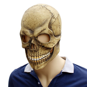 Image 5 - Реалистичная страшная маска черепа на всю голову, латексная, страшная маска призрака, маска для Хэллоуина вечерние костюм, реквизит для косплея, забавный, для взрослых, один размер