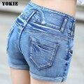 High Waist Denim Shorts for Women 2016  Brand Style Shorts Jeans Women Denim Shorts Feminino Slim Hip Plus Size For 4 Seasons
