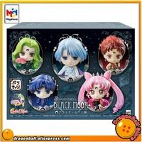 Japanese Anime Pretty Guardian Sailor Moon Original MegaHouse Petit Chara Figurine Action Figure Black Moon