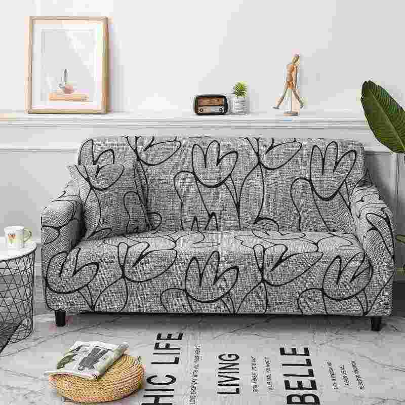 Tremendous Modern Style Printed Sectional Sofa Cover 1Pc One Two Three Machost Co Dining Chair Design Ideas Machostcouk