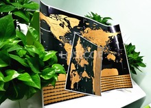 World Map With Flags US States Travel maps posters wall art sticker dropshipping