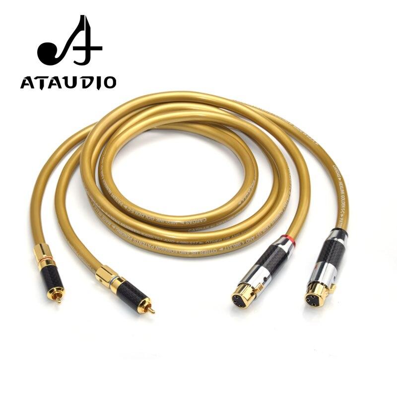 ATAUDIO Cardas 5C cuivre HIFI XLR femelle à RCA câble pur OCC double RCA mâle à XLR câble d'interconnexion