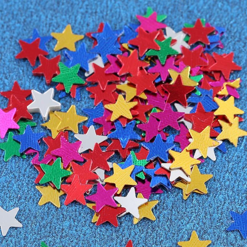 casamento Sparkle STAR Svatební dekorace na stůl Confetti také ideální pro řemesla Gold Silver Blue Vícebarevný pro variant 10 balení