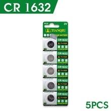 Células de Lítio Venda Quente 5 PCS 3 V Coin Botão Bateria Cr1632 Ee6224 Dl1632 Lm1632 Ecr1632 Br1632