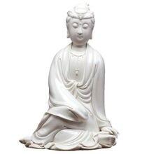 Guanyin Dehua White Porcelain Sculpture Crafts Decorative Ornaments of Home Furnishing Avalokitesvara