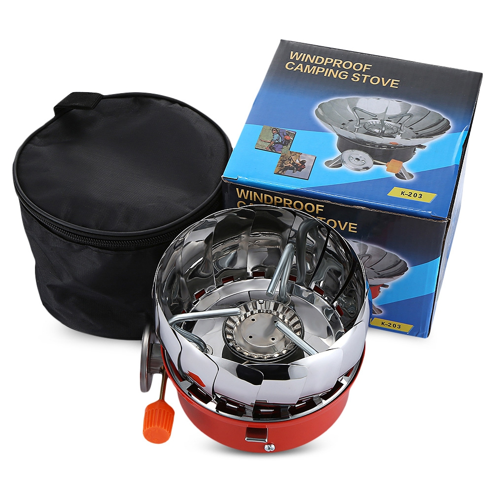 Outdoor Portable Foldable Snap type Lotus Burner Camping Gas Stove Mini Gas Stove Naturehike Camping Gear Accessories in Outdoor Stoves from Sports Entertainment