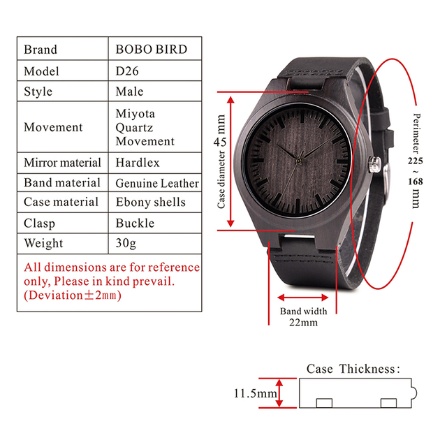 Engraved Wooden Watches For Husband 5