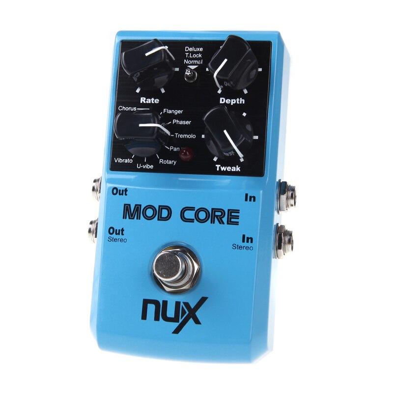 NUX MOD Core pédale d'effet guitare 8 effets de Modulation préréglage verrouillage de tonalité véritable contournement bleu livraison gratuite