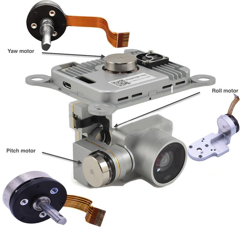Genuine DJI Phantom 3 Pro/Adv Part - Gimbal Camera Pitch/Roll/Yaw/Motor Arm Bracket Repair Part for P3 Professional Advanced(China)