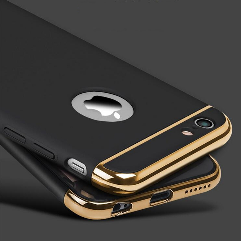 for iphone 6s 6 7 8 Plus Case 5S 5 SE 7plus Thin Gold Luxury Cover Acce