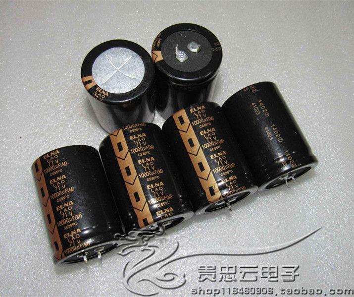 2pcs/10pcs Genuine ELNA LAO 71V10000UF 35*50MM Copper Foot Gold Fever Filter Aluminum Electrolytic Capacitor free shipping