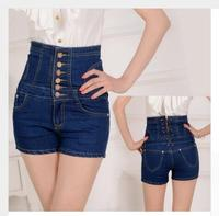 Plus Size High Waist Woman Shorts Jeans Summer Tunic Lace Up Big Size 3xl 4xl 5xl 34 35 36 Lady Casual Short Denim 403