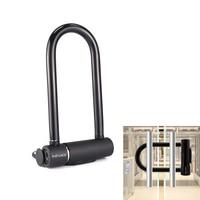 Newest FL U9 IP65 Waterproof U lock Smart Fingerprint Door Lock Fingerprint Security Lock for Shop/Office Glass Door Bike Motor