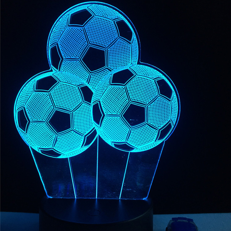 New Creative Football Balloon Night Light Sporting 3D LED USB Lamp RC Touch Remote Controller Colorful Gradient Visual Boy Gift