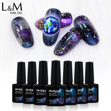 ibdgel New Arrival Galaxy Nail Gel Polish DIY Glitter