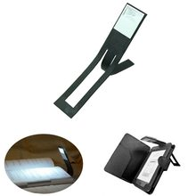YAM 1PC Black Flexible Folding LED Clip On Reading Book Light Lamp For Reader Kindle Beside Lamps New 2017(China)