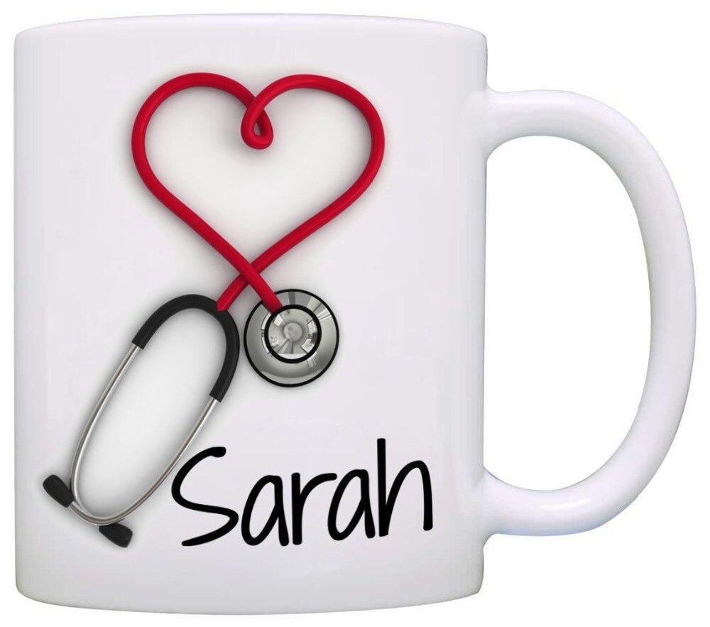 Funny 11 oz Black Ceramic Tea Cup Nurse Coffee Mug Cute and A Nurse Thing
