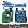 Piezas de la impresora 3D Ciclop 3d escáner de código abierto accesorios de BRICOLAJE, tarjeta de Expansión kits controlador UNO y ZUM Scan