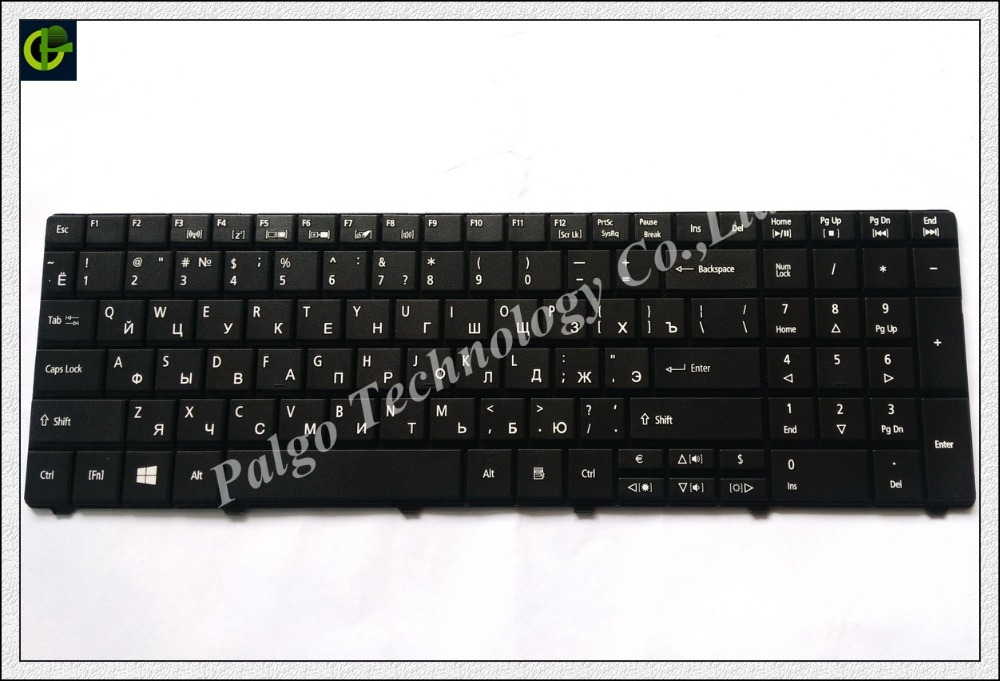 Russian Keyboard For  MP-09G33SU-528 MP-09G33SU-6981 NSK-AU00R 6037B0042416 KB.I170A.220 NSK-AUF0R PK130PI2B04 RU Black