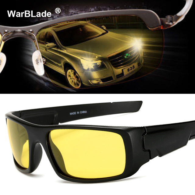 3e92397f50 Polarized Night Driving Glasses For Men High Quality Anti Glare Safety HD  Night Vision Square Sunglasses Eyewears WarBLade