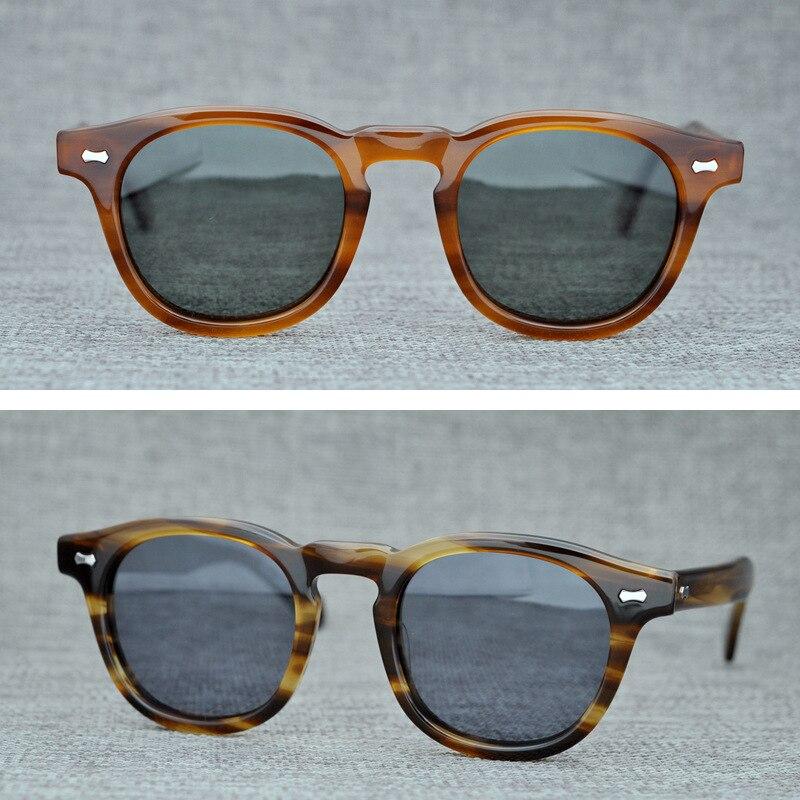 Cubojue Polarized Mens Sunglasses Johnny Depp Acetate Glasses Man TAC Anti Reflective UV400 Tortoise Thick Frame Brand Design