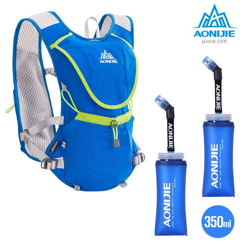 Unisexe Sport sac à dos Marathon Fitness hydratation gilet Pack 8L capacité sac avec 350 M L bouteille d'eau pour courir équitation Camping