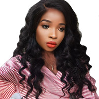 You May Brazilian Virgin Hair Weave 1 Piece Loose Wave Human Hair Weft Bundles Natural Black