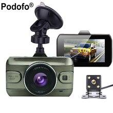 Podofo Dashcam 1080 P Full HD de Lente Dupla Do Carro DVR Cam Gravador de Vídeo Registrator Retrovisor Backup Câmera G-Sensor Night Vision Dvrs