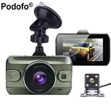 Podofo Двойной объектив Видеорегистраторы для автомобилей Cam dashcam 1080 P Full HD видео регистратор Регистраторы резервного копирования заднего Камера G-Сенсор Ночное видение видеорегистраторы