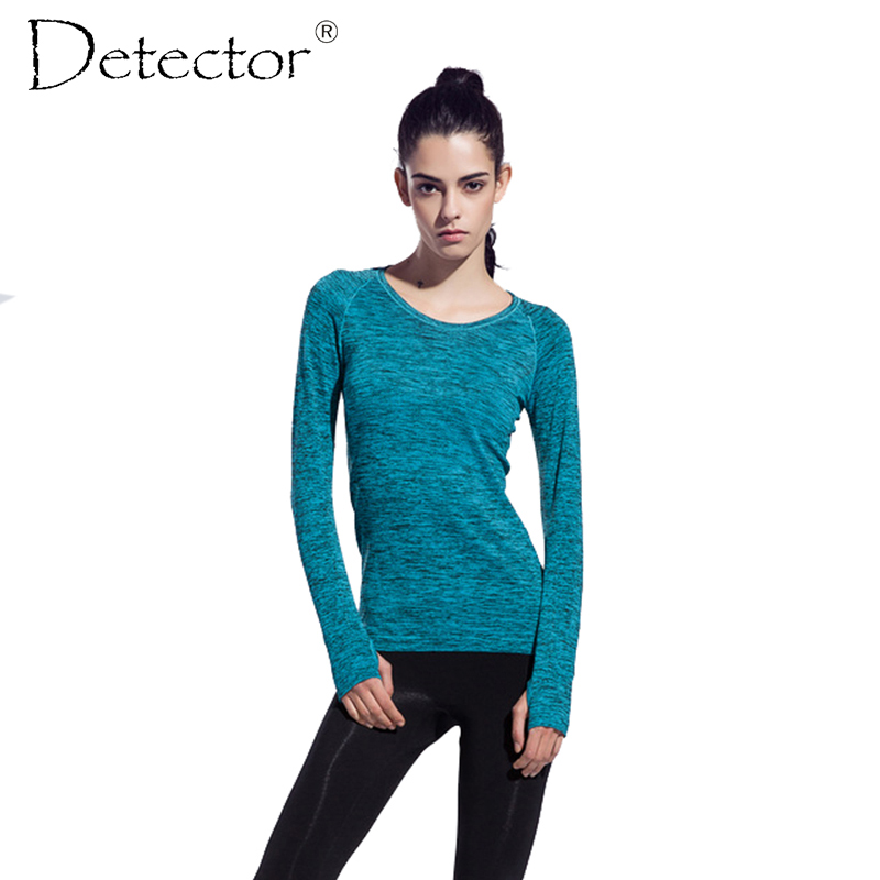 ФОТО Women sports compression long sleeve t shirt women's fitness running cycling gym jersey clothes quick dy thermal base layer