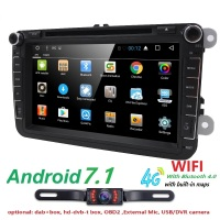 2 Din Android 6 0 Car Multimedia Player Fit Volkswagen Vw Skoda Yeti Golt Polo Passat