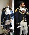 Готический военный Косплей Костюм гамилтона  готический военный пиджак