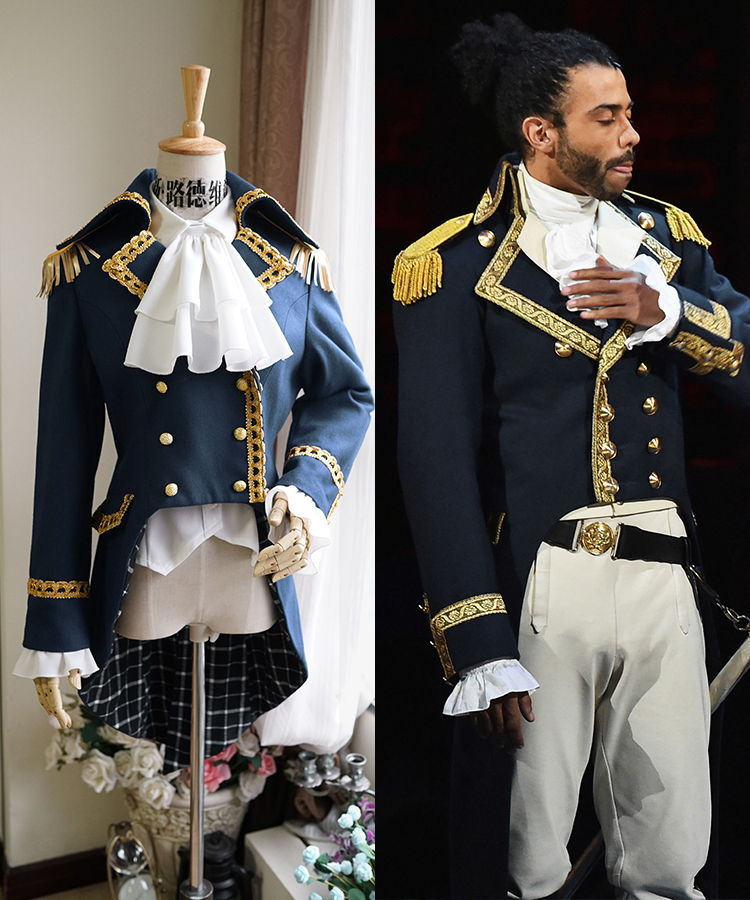Colonial Hamilton Colonial Military Cosplay Costume Musical Hamilton Cosplay Gothic Aristocrat Military JACKET