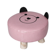 Детский табурет домашний мультфильм малая скамья устойчивый деревянный стул диван животное милый детский табурет низкий кожаный стул