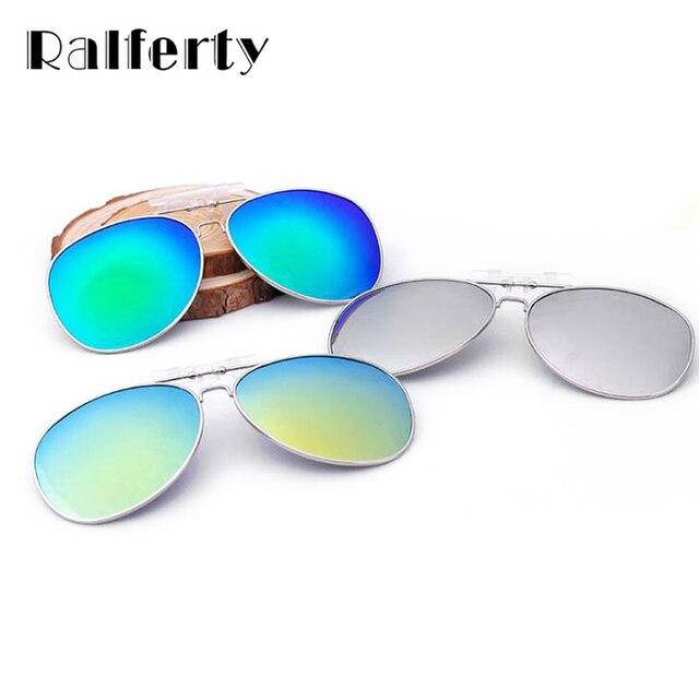 b600128db82 Ralferty Polarized Clip On Sunglasses Men Women Pilot Flip UP Driving Night Vision  Lens Oversize Sun Glasses Outdoor Goggles