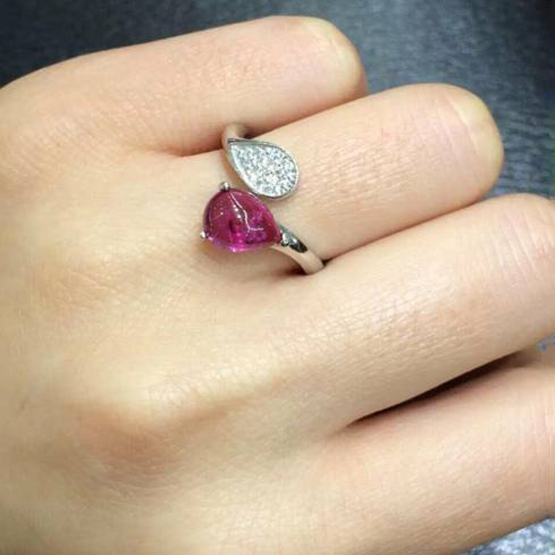 Anillos Qi Xuan_Trendy Jewelry_Tourmaline Stone Elegant Woman Rings_S925 Solid Sliver Fashion Rings_Manufacturer Directly Sales Anillos Qi Xuan_Trendy Jewelry_Tourmaline Stone Elegant Woman Rings_S925 Solid Sliver Fashion Rings_Manufacturer Directly Sales