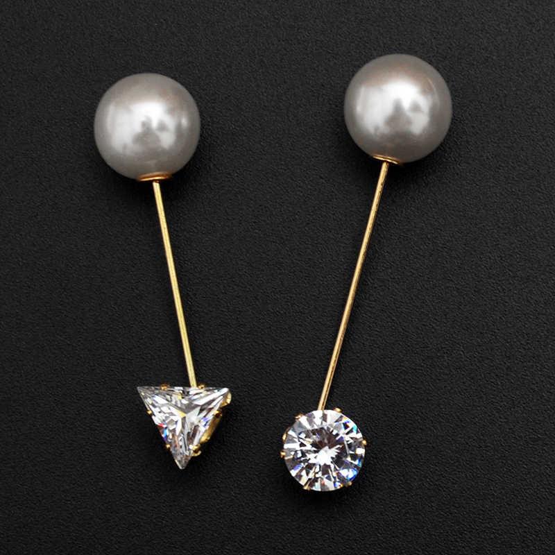 Bros Pin 1 PC Kualitas Tinggi Zircon Simulasi Mutiara Bersinar Pesona Bros Pin Lencana Pakaian Suit DIY Fashion Perhiasan Hadiah ladygir