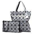 2016 New Fashion Women two pieces Pearl Bag Diamond Lattice Tote Geometry Quilted Handbag Geometric Mosaic Shoulder Bag